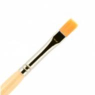Кисть для ногтей гель ВАЛЕРИ-Д из нейлона №6 ровная в футляре: фото