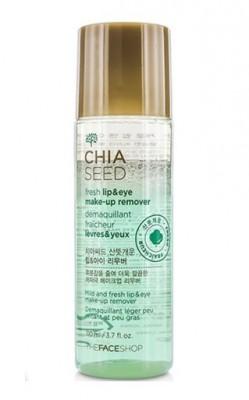 Двухфазное средство для снятия макияжа с чиа THE FACE SHOP Chia Seed Fresh Lip & Eye Make-Up Remover: фото