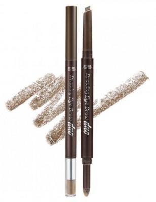 Двойной карандаш для бровей ETUDE HOUSE Drawing Eye Brow Duo №02 Light Brown: фото