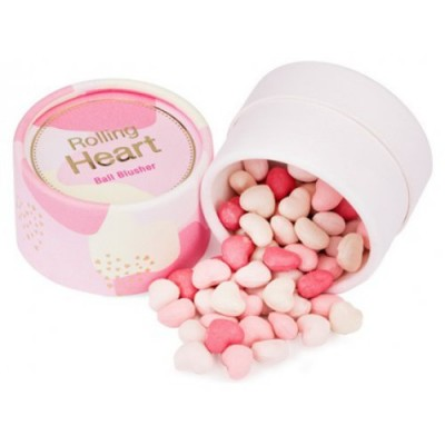 Румяна в шариках MISSHA Rolling Heart Ball Blusher No.1/Pink Meringue: фото