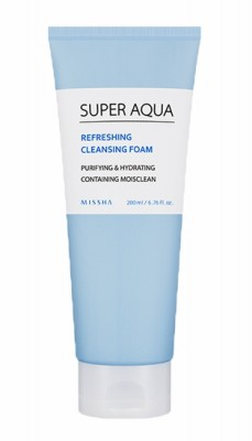 Пенка очищающая MISSHA Super Aqua Refreshing Cleansing Foam: фото