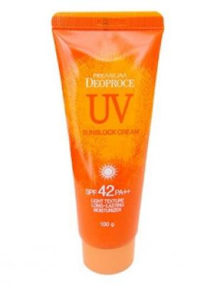 Солнцезащитный крем для лица и тела DEOPROCE Premium UV sunblock cream SPF42 100г: фото