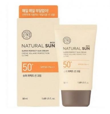 Солнцезащитный матирующий крем THE FACE SHOP Natural Sun Eco Oil Clear Sun Cream SPF50+PA+++: фото
