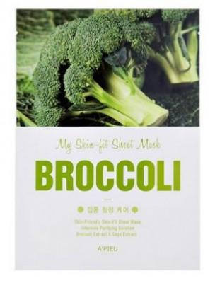 Тканевая маска с брокколи A'PIEU My Skin-Fit Sheet Mask Broccoli: фото