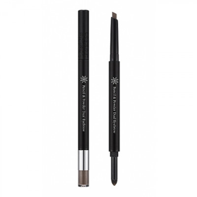 Карандаш для бровей MISSHA The Style Pencil & Powder Dual Eye Brow Brown: фото