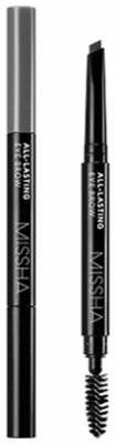 Карандаш для бровей MISSHA All-lasting Eye Brow Gray Brown: фото