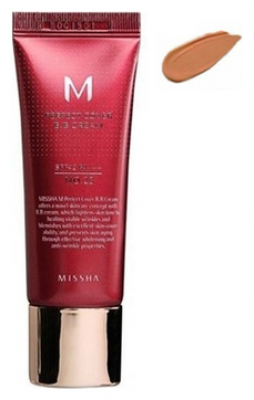 Тональный крем MISSHA M Perfect Cover BB Cream SPF42/PA+++ No.29/ Caramel Beige 20ml: фото