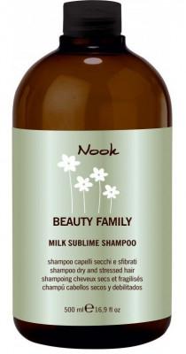 Шампунь восстанавливающий укрепляющий для сухих и поврежденных волос NOOK Beauty Family Milk Sublime Dry & Stressed Hair Ph5,5 500 мл: фото