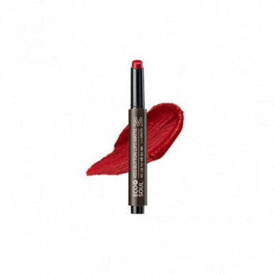 Помада для губ матовая THE SAEM Eco Soul KISS Button Lips Matte 07 Retro Red 2гр: фото