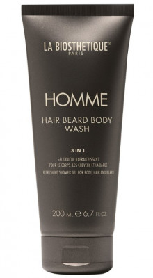 Гель для тела, волос и бороды очищающий, увлажняющий и освежающий La Biosthetique Hair Beard Body Wash 200 мл: фото