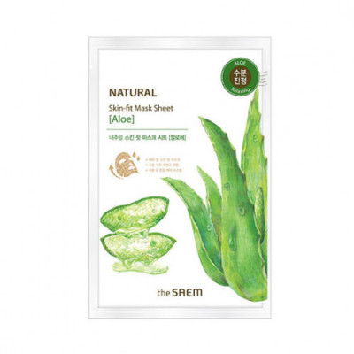 Маска тканевая алоэ THE SAEM Natural Skin Fit Mask Sheet [Aloe] 20ml: фото