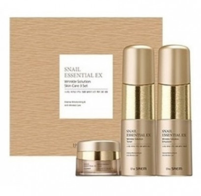 Набор антивозрастной THE SAEM Snail Essential EX Wrinkle Solution Skin Care 2 Set 150мл*150мл*30мл: фото