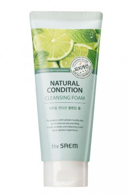 Пенка для умывания жирной кожи THE SAEM Natural Condition Cleansing Foam Sebum Controlling 150мл: фото
