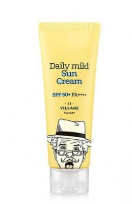 Солнцезащитный крем VILLAGE 11 FACTORY Daily Mild Sun Cream SPF 50+ PA++++ 50мл: фото