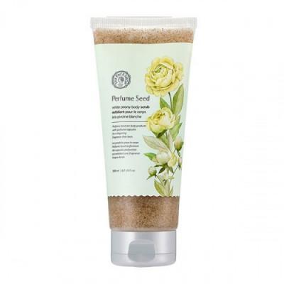 Скраб для тела с семенами белого пиона The Face Shop Perfume Seed White Peony Body Scrub 200 мл: фото