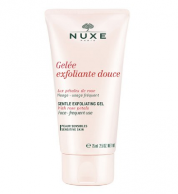 Гель нежный эксфолиирующий с лепестками роз Nuxe Gentle Exfoliating Gel aux Petales de Rose 75 мл: фото