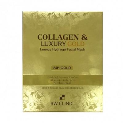Маска гидрогелевая с золотом 3W CLINIC Collagen & Luxury Gold Energy Hydrogel Facial Mask: фото