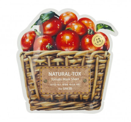 Маска тканевая томатная THE SAEM Natural-tox Tomato Mask Sheet 20г: фото