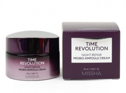 Крем ночной восстанавливающий MISSHA Time Revolution Night Repair Probio Ampoule Cream 50мл: фото