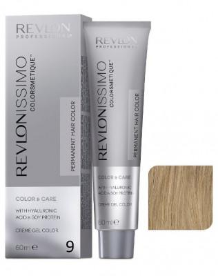 Краска перманентная Revlon Professional Revlonissimo Colorsmetique 9 Очень Светлый Блондин 60мл: фото