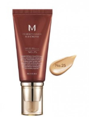 Тональный крем MISSHA M Perfect Cover BB Cream SPF42/PA+++ No.25/Warm Beige 50ml: фото