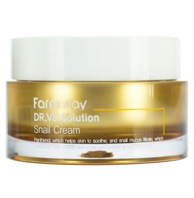 Крем с муцином улитки FarmStay Dr-V8 Solution Snail Cream 50мл: фото