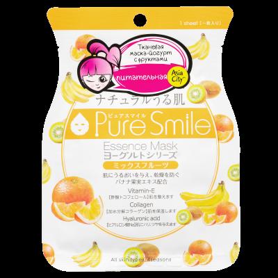 Маска тканевая на йогуртовой основе с фруктами SunSmile 23 мл: фото