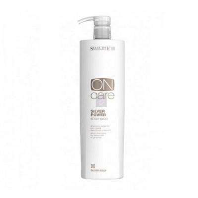 Серебряный шампунь для обесцвеченных или седых волос Selective, Silver Power Shampoo 1000 мл: фото