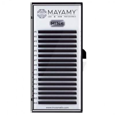 Ресницы MAYAMY MINK 16 линий С 0,07 6 мм: фото