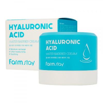 Крем увлажняющий защитный с гиалуроновой кислотой FarmStay HYALURONIC ACID WATER BARRIER CREAM 80мл: фото