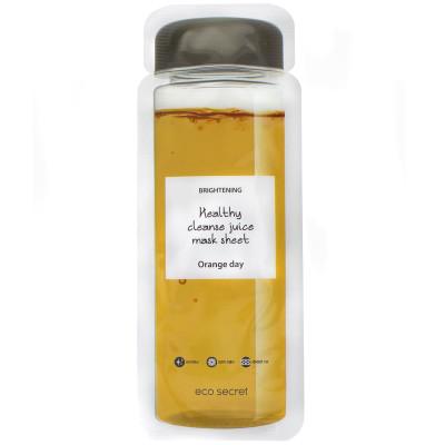 Тканевая детокс-маска из натурального сока Eco Secret Healthy Cleance Juice Mask Sheet ORANGEDAY 20 мл: фото