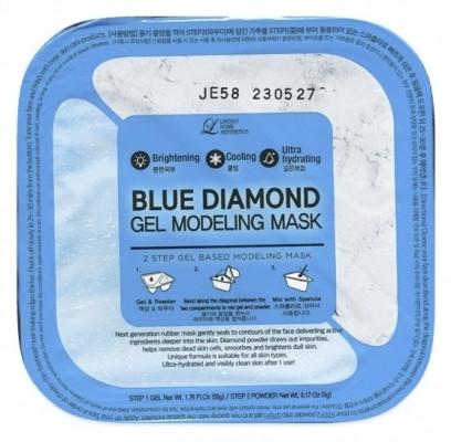 Lindsay Альгинатная маска c алмазной пудрой (пудра+гель) Blue Diamond Gel Modeling Mask 50г+5г: фото