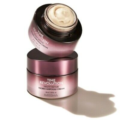 Крем ночной восстанавливающий MISSHA Time Revolution Night Repair Probio Ampoule Cream 30мл: фото